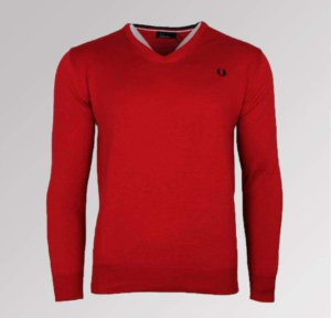 JERSEY FRED PERRY PICO ROJO