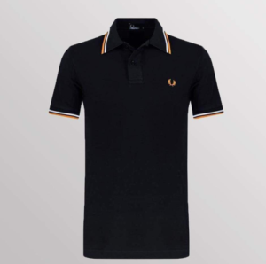 POLO FRED PERRY NEGRO